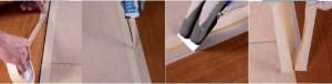 木纹色硅烷封端聚氨酯密封胶或者聚氨酯密封胶填缝步骤